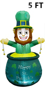 St. Patrick's Day Inflatable Decoration