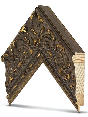 tuscan antique gold frame