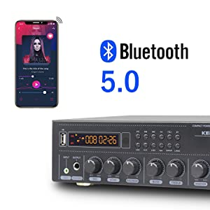 Stereo recever with bluetooth