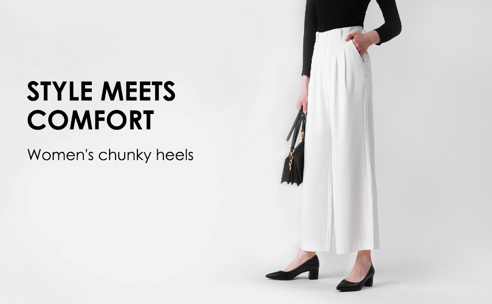 Women dress chunky weddings bride low closed toe heels ashion classic elegant block pointed toe