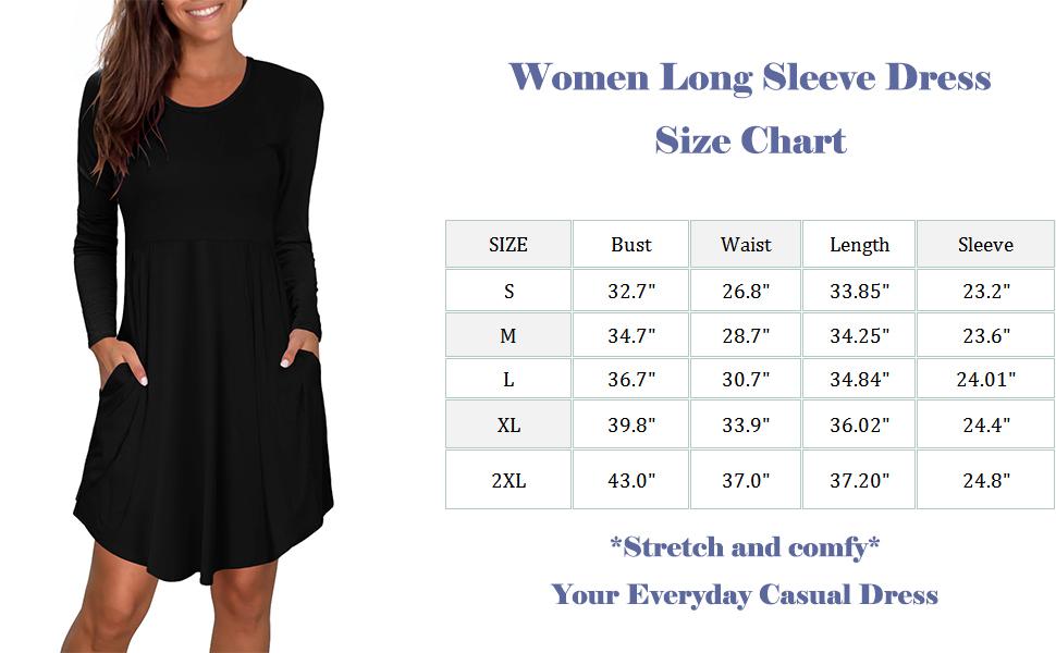 dress for women long sleeve