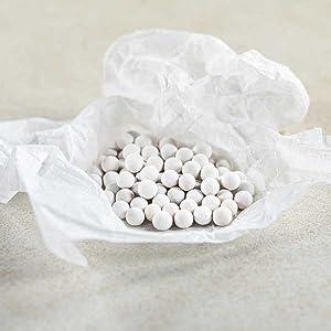 calciumsulfaat zoals in onze douchekoppen.
