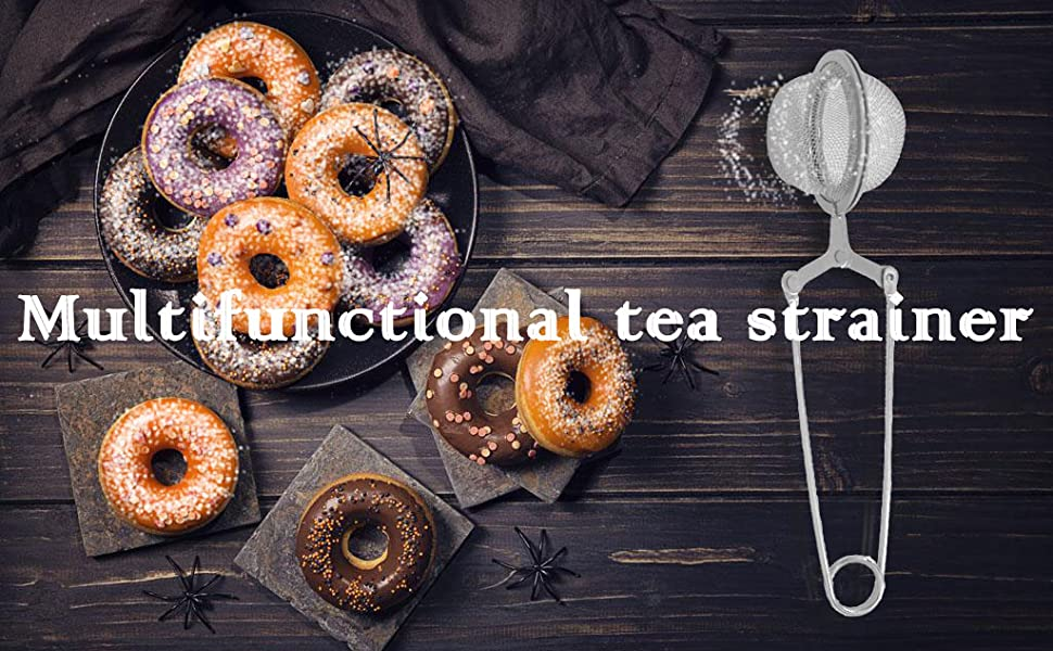 Multifunctional tea strainer
