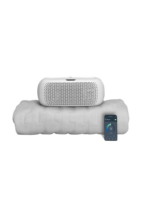 remote app control warm awake variable fan custom schedule uv cleaner sleep pad single dual zone bed