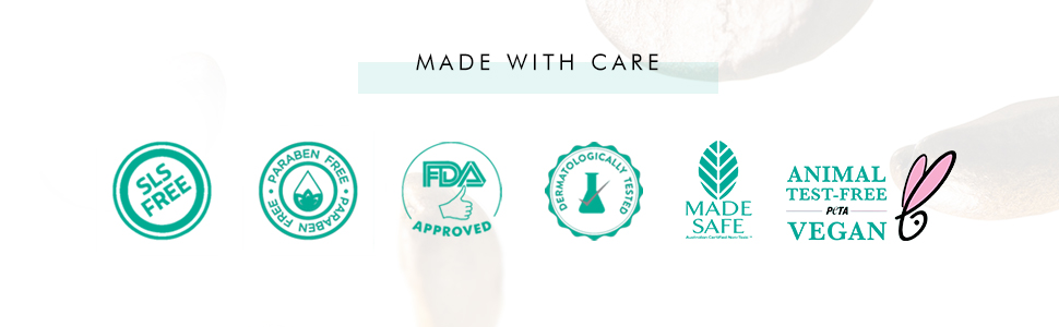 cruelty free paraben free sls free dermatologically tested fda approved peta certified