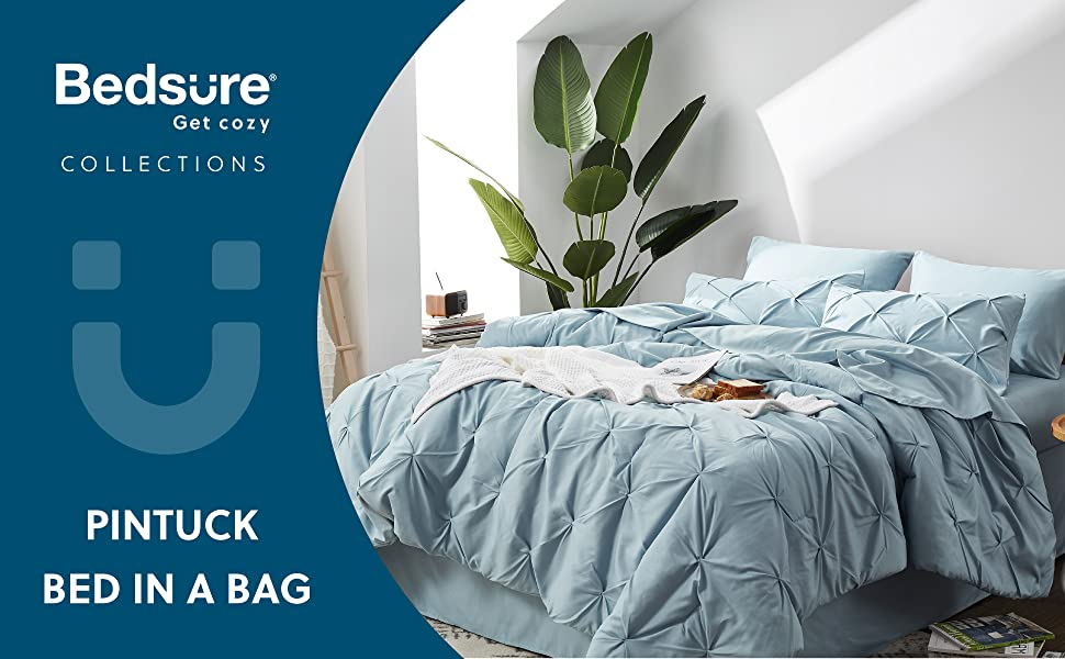 Comforter set light blue