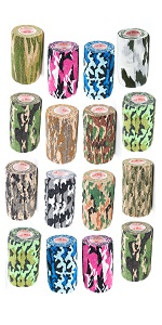 camo wrap vetrap vet wrap horse leg wraps cohesive self adhesive wrap tape