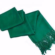 Silky scarf super soft fringe shawl premium reversible brocade color soft elegant events formal