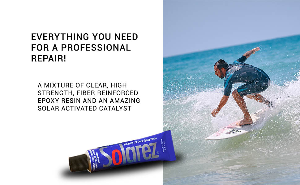 Solarez, UV Cure, Surfing, Ding Repair, repair
