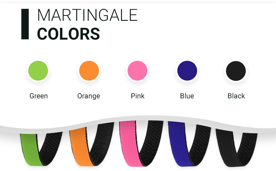 martingale collars for dogs pink green blue orange orange