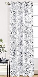 tree branch window curtain