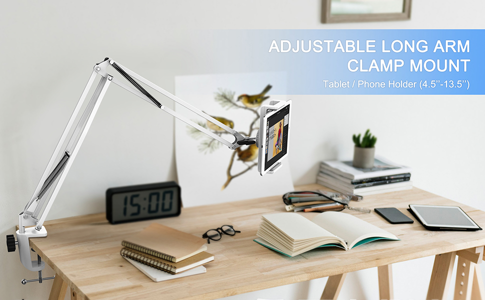 long arm tablet stand