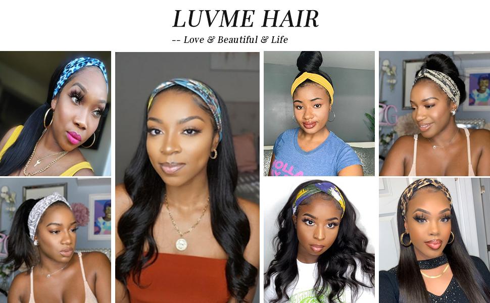 Headband Wig Customer Show
