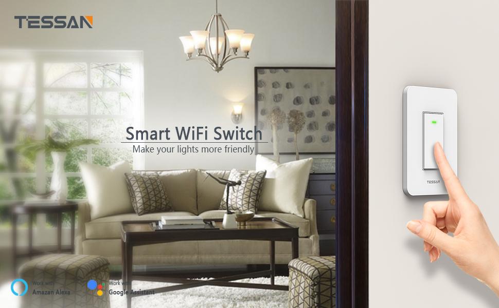 TESSAN 3-Way Smart Wifi Switch