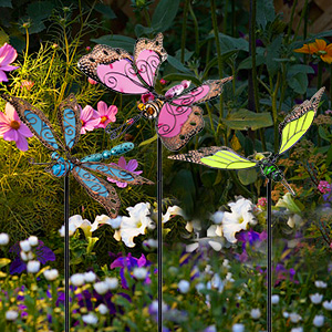 Hummingbird garden stakes decorative