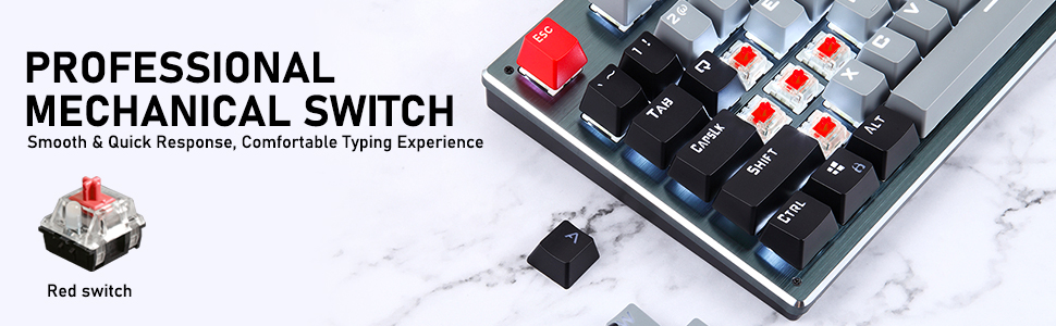 compact mechanical gaming keyboard