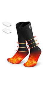 heated socks black