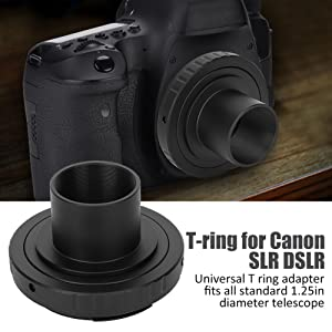 1.25in Astronomical Telescope Mount Adapter T SLR Ring for Canon Camera Lens