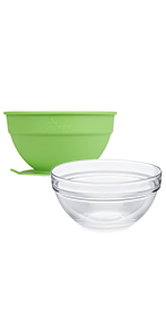 Glass Bowl and Silicone Suction Cup