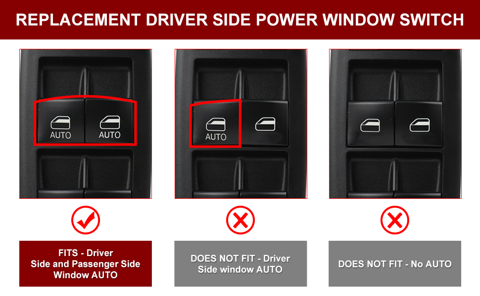 uxcell/® 68231805AA Electric Power Window Master Switch Front Left Driver Side for 2015-2017 Chrysler 200 C S 4-Door