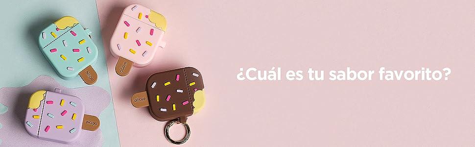 Fresa elago Funda Helado AirPods con Mosquet/ón Dise/ñado para Apple AirPods 1 /& 2/