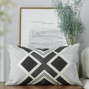 grey lumbar throw pillow covers