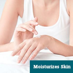 Fights dry skin, reducing wrinkles in the long run.