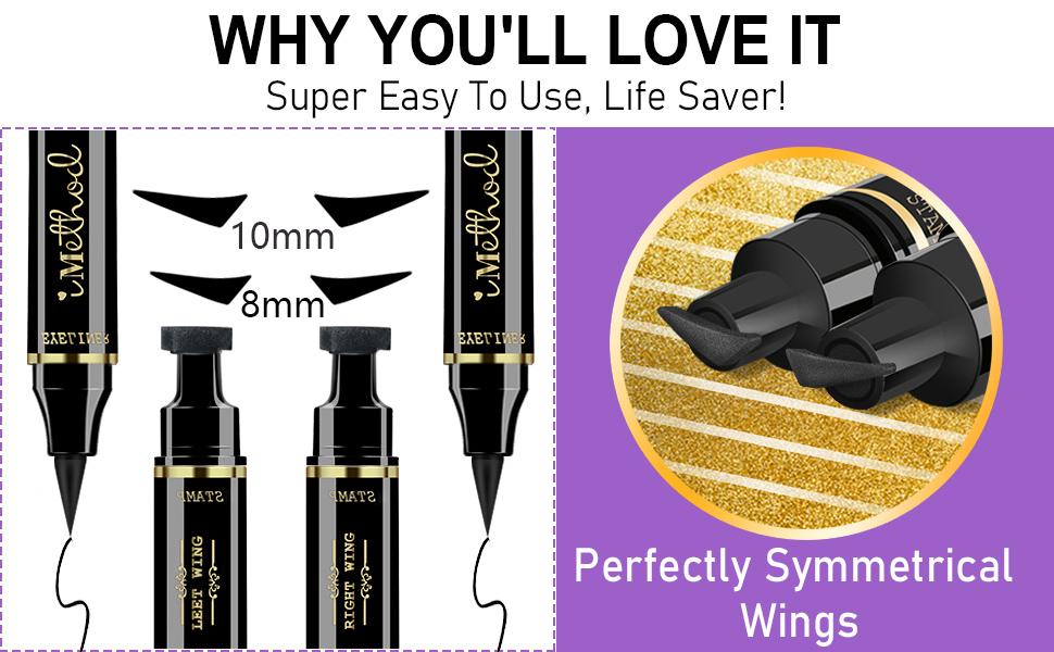 winged eyeliner stamps