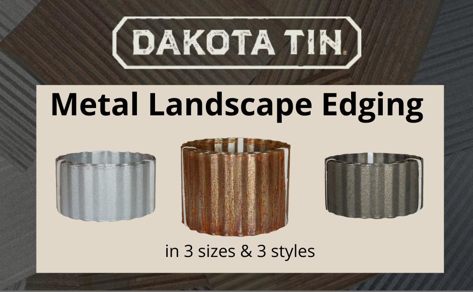 Amazon Com Corrugated Metal Landscape Edging 6in W X 10ft L Galvalume Home Improvement