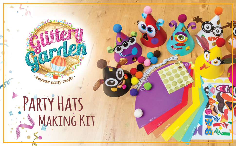 Party hats making kit craft birthday diy activities favors game
