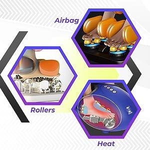 airbag roller heat foot massage