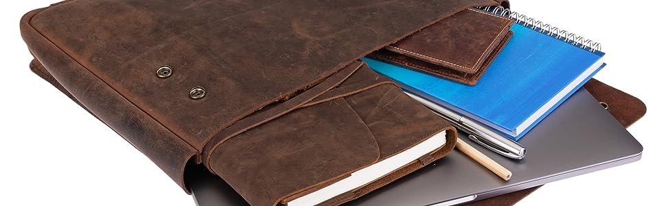 leather folder portfolio sleeve moonster