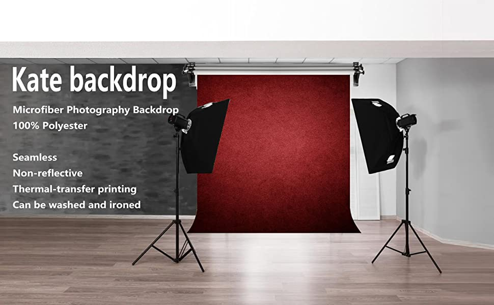 red backdrops for photographer