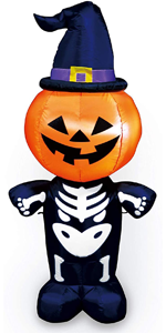 6 FT Inflatable Skeleton Pumpkin