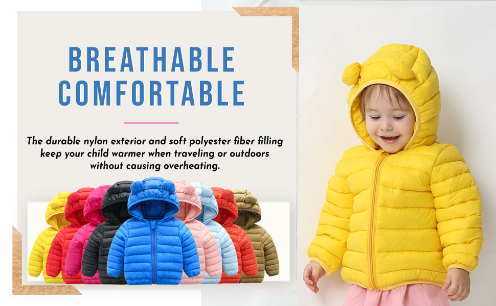 7 Children Kids Girl Winter Warm Hood Coat Pink Black Jacket Size S