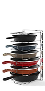 7 Compartment Adjustable Pan Rack Chrome