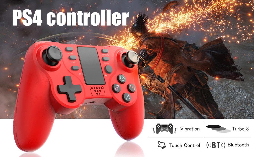TUTUO Mando Inalámbrico para PS4, Dualshock 4 Wireless Bluetooth Controlador Controller Gamepad Compatible con Playstation 4 (Rojo): Amazon.es: Electrónica