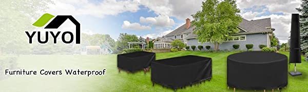 YuYo Rectangular cover for outdoor to protect your garden furniture sets