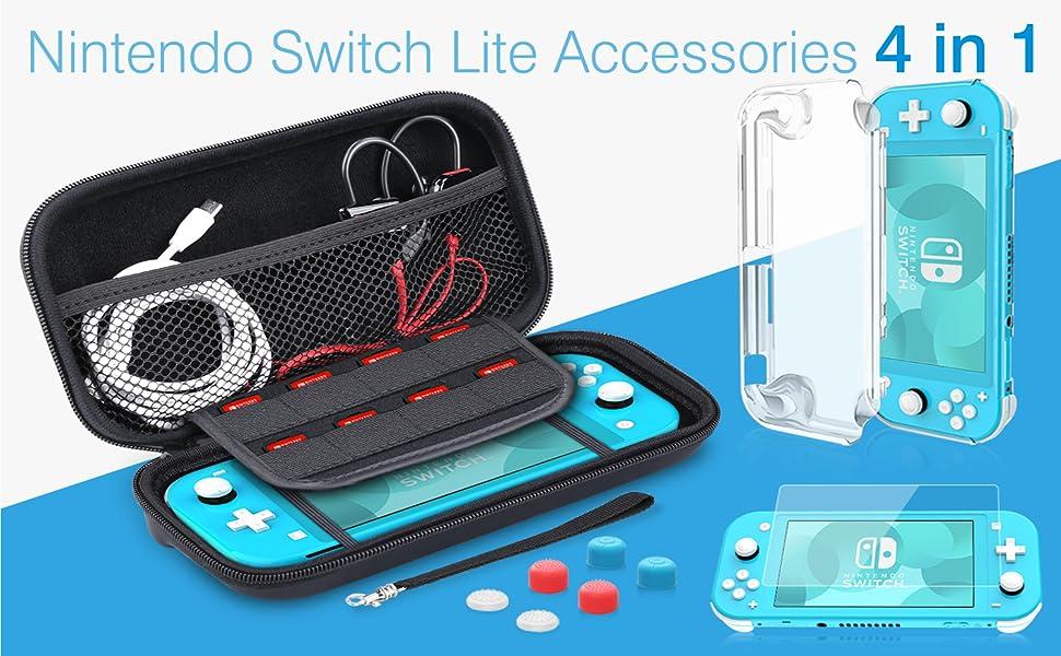 HEYSTOP Funda para Nintendo Switch Lite, 9 in1 Accesorios Nintendo ...