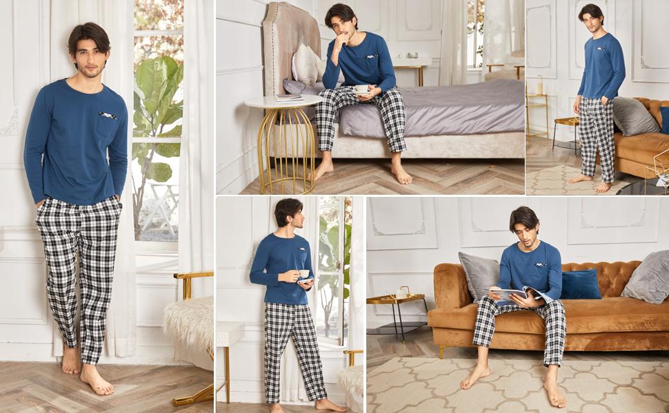 christmas pajamas set for men