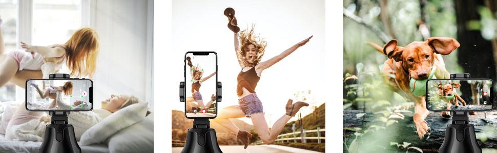 Smart follow to take photos or video