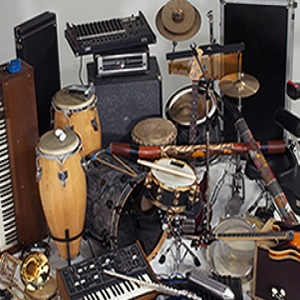 Instruments in music classroom