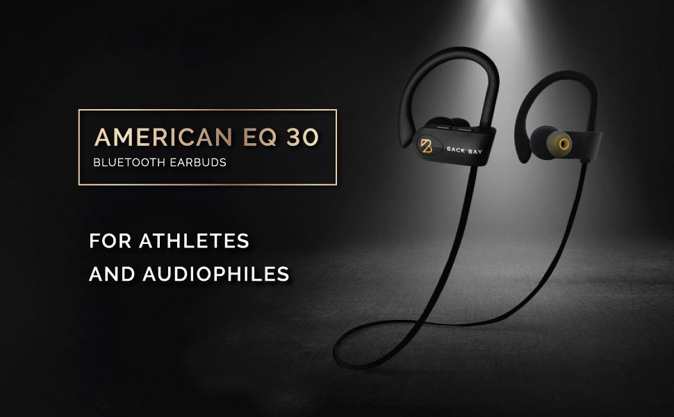 American EQ 30 Wireless Earbuds bluetooth earphones for running runners sports workout lifting bass
