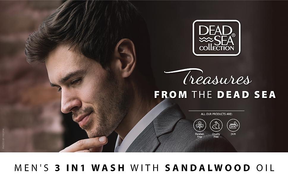 Dead Sea Mineral 3 in 1 men's wash