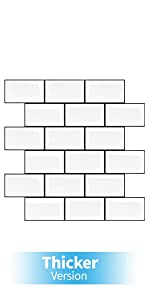 peel and stick backsplash for kitchen white subway tile self-adhesive wall tiles for bathroom