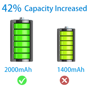 2000mAh lithium battery
