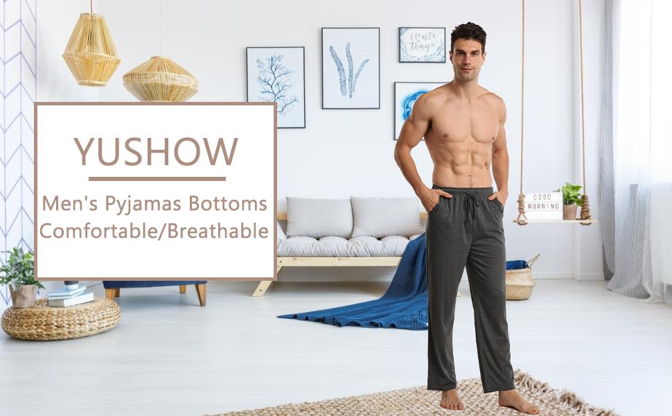 2 Pack mens pyjamas bottoms