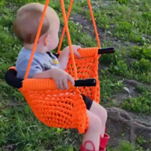 LUVIN Swing for Infants Outdoor Indoor Swing for Kids with Safety Bar Adjustable Rope for