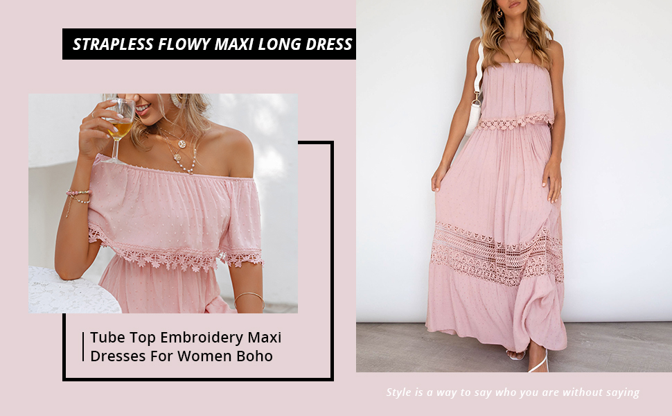 Boho Long Embroidery Cotton Dress Maxi Summer Spaghetti String One Size Fits All Ruffle Top Floor Embroidery Length Dress Bohemian Long Dres