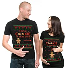 Maternity Shirt Christmas new baby announcement new father christmas gift pregnant shirt womens tee